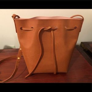 Mansur Gavriel Cammello Rosa mini bucket bag